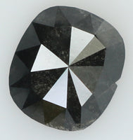 Natural Loose Diamond Cushion Black Color I3 Clarity 6.80 MM 0.82 Ct KR956