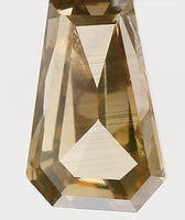 geometric shapes Natural Loose Diamond Antique Brown Color Si1 Clarity 5.10 MM 0.36 Ct KR604