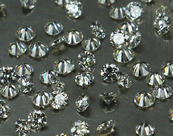 Natural Loose Diamond Round G-H White Color SI1 Clarity 1.80 to 2.00 MM 10 Pcs Lot Q19