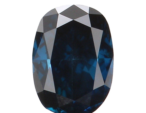 Natural Loose Diamond Oval Blue Color SI1 Clarity 3.60 MM 0.15 Ct KR1013