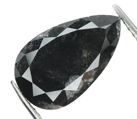 Natural Loose Diamond Pear Black Color I2 Clarity 10.72 MM 2.77 Ct L5340