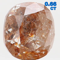 Natural Loose Diamond Cushion Grey Brown Color I3 Clarity 5.00 MM 0.66 Ct L5790