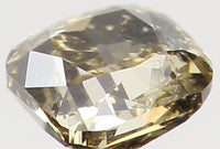 Natural Loose Diamond Cushion Brown Yellow Color SI2 Clarity 2.80 MM 0.11 Ct KR1169