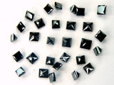 Natural Loose Diamond Princess Cut Black Color I3 Clarity 2.00 MM 5 Pcs Lot Q47