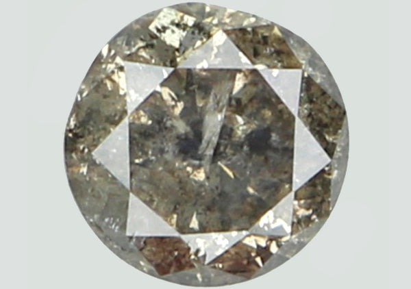 Natural Loose Diamond Round Brown Nas Color I2 Clarity 4.25 MM 0.32 Ct L5886