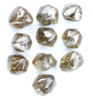 Natural Loose Diamond Rough Brown Color I1 Clarity 5 Pcs Lot Q100