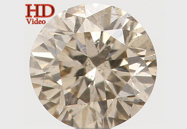 Natural Loose Diamond Round Brown Color SI2 Clarity 3.50 MM 0.16 Ct L5944
