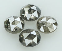 Natural Loose Diamond Round Rose Cut Grey Salt And Pepper Color I3 Clarity 4 Pcs 0.83 Ct L6253