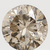 Natural Loose Diamond Round Brown Color I1 Clarity 2.80 MM 0.09 Ct L6268