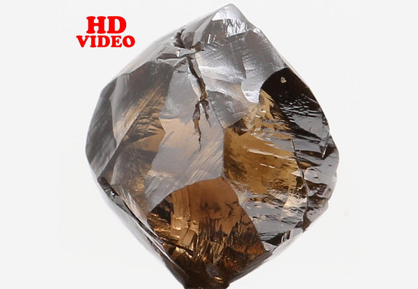 Natural Loose Diamond Crystal Rough Brown Color I1 Clarity 6.60 MM 2.08 Ct L6300
