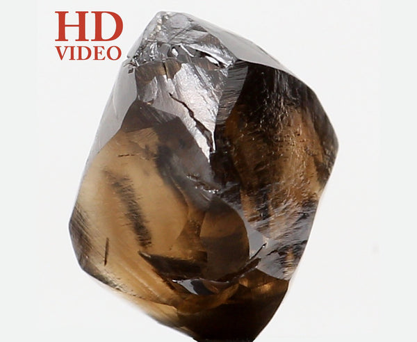 Natural Loose Diamond Crystal Rough Brown Color I1 Clarity 6.80 MM 2.14 Ct KR1329