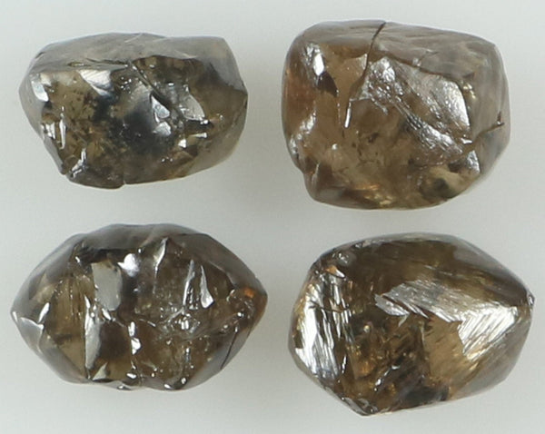 Natural Loose Diamond Rough Brown Color I1 Clarity 4 Pcs 2.47 Ct L6393