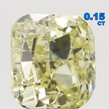 Natural Loose Diamond Cushion Yellow Color SI1 Clarity 2.90 MM 0.15 Ct L6466
