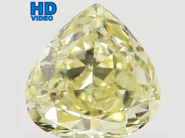 Natural Loose Diamond Heart Yellow Color SI1 Clarity 3.10 MM 0.11 Ct L6482