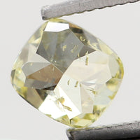 Natural Loose Diamond Cushion Yellow Color SI2 Clarity 3.30 MM 0.16 Ct KR1428