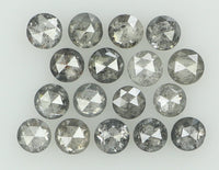 Natural Loose Diamond Round Rose Cut Black Grey Color I3 Clarity 17 Pcs 1.09 Ct KR1430