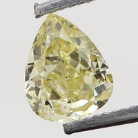 Natural Loose Diamond Pear Yellow Color SI1 Clarity 4.00 MM 0.19 Ct L6500