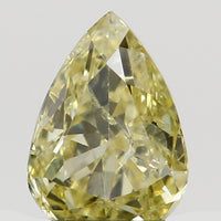 Natural Loose Diamond Pear Yellow Color SI1 Clarity 4.10 MM 0.16 Ct KR1440
