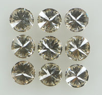 Natural Loose Diamond Round Brown Color SI2 Clarity 9 Pcs 0.46 Ct L6559