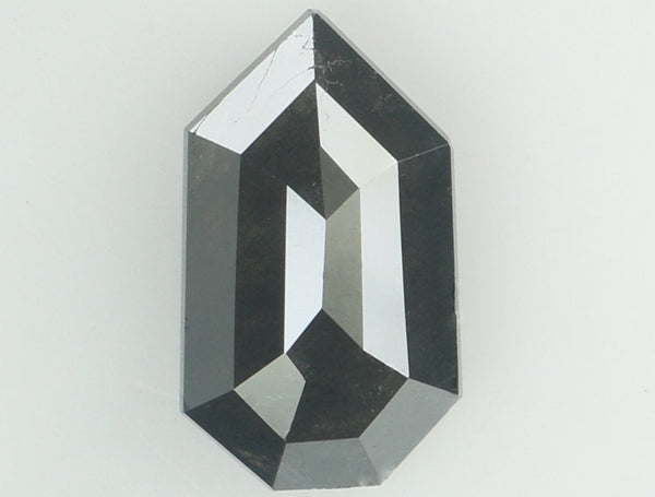 Natural Loose Diamond Shield Black Color I3 Clarity 9.50 MM 1.47 Ct KR1515