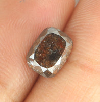 Natural Loose Diamond Cushion Brown Color I3 Clarity 7.10 MM 1.63 Ct KR1542