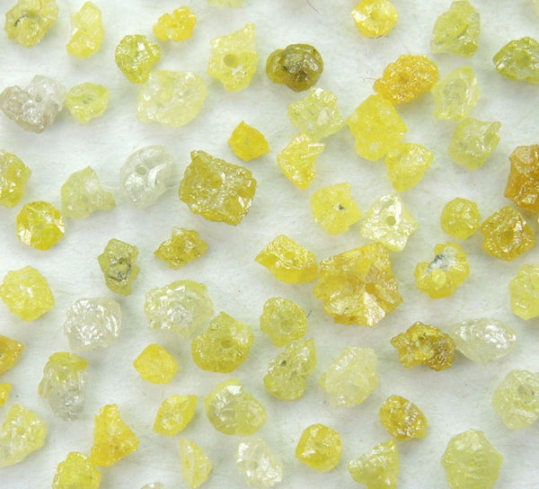 Natural Loose Diamond Rough Drilling Shape Fancy Color I3 Clarity 100 Pcs Q78