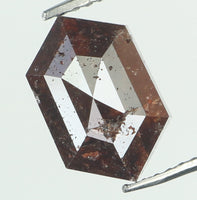 Natural Loose Diamond Hexagon Brown Color I3 Clarity 7.20 MM 1.87 Ct L6689