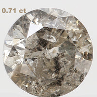 Natural Loose Diamond Round I-J Color I3 Clarity 5.50 MM 0.71 Ct L6691
