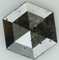 Natural Loose Diamond Hexagon Black Color I3 Clarity 9.00 MM 2.36 Ct KR1556