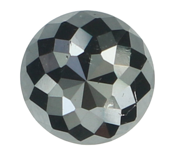 Natural Loose Diamond Round Rose Cut Black Color I3 Clarity 4.10 MM 0.36 Ct L6701