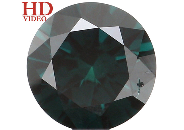 Natural Loose Diamond Round Blue Color VS2 Clarity 3.60 MM 0.17 Ct KR1562