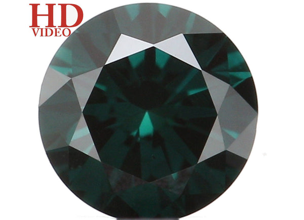 Natural Loose Diamond Round Blue Color I3 Clarity 3.70 MM 0.19 Ct KR1563