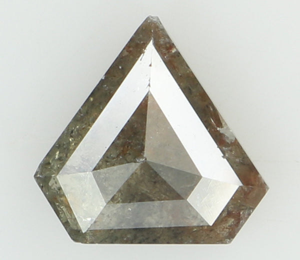Natural Loose Diamond Shield Grey Color I3 Clarity 7.00 MM 0.92 Ct L6729