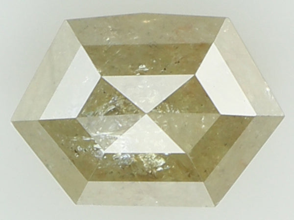 Natural Loose Diamond Hexagon Grey Yellow Color I3 Clarity 7.80 MM 1.51 Ct KR1613