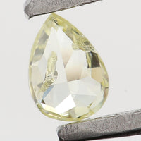 Natural Loose Diamond Pear Yellow Color SI1 Clarity 4.30 MM 0.17 Ct KR1409