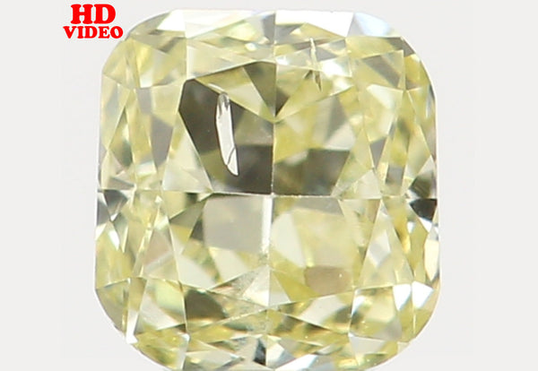 Natural Loose Diamond Cushion Yellow Color SI2 Clarity 2.90 MM 0.12 Ct L6462