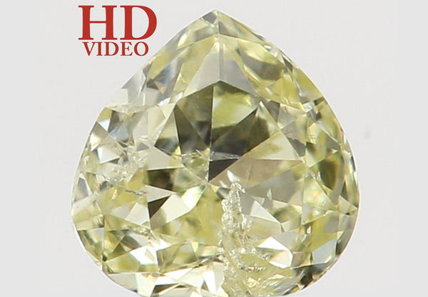Natural Loose Diamond Heart Yellow Color SI2 Clarity 3.40 MM 0.16 Ct KR1412