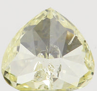 Natural Loose Diamond Heart Yellow Color SI2 Clarity 3.70 MM 0.22 Ct L6464