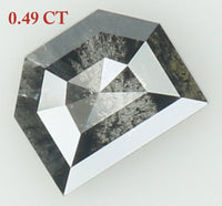 Natural Loose Diamond Shield Black Grey Salt And Pepper Color I3 Clarity 5.10 MM 0.49 Ct KR1414