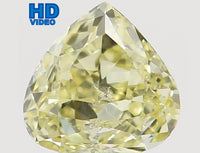 Natural Loose Diamond Heart Yellow Color SI1 Clarity 3.60 MM 0.18 Ct L6473