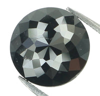 Natural Loose Diamond Round Rose Cut Black Color I3 Clarity 7.00 MM 1.57 Ct L6819