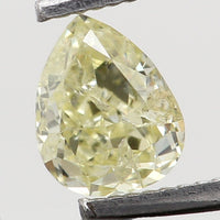 Natural Loose Diamond Pear Yellow Color SI1 Clarity 3.70 MM 0.16 Ct KR1432