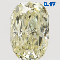 Natural Loose Diamond Oval Yellow Color SI1 Clarity 3.90 MM 0.17 Ct L6524