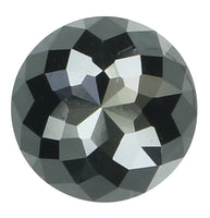 Natural Loose Diamond Round Rose Cut Black Color I3 Clarity 7.00 MM 1.76 Ct KR1647