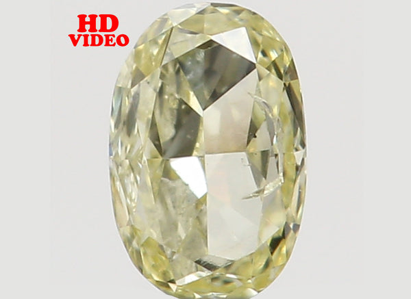 Natural Loose Diamond Oval Yellow Color SI1 Clarity 3.50 MM 0.11 Ct L6533