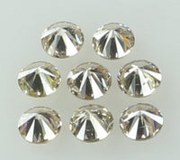 Natural Loose Diamond Round Brown Color SI2 Clarity 8 Pcs 0.36 Ct KR1460