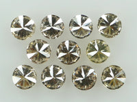 Natural Loose Diamond Round Brown Color I1-SI2 Clarity 11 Pcs 0.38 Ct L6575
