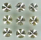 Natural Loose Diamond Round Brown Color I1-I2 Clarity 9 Pcs 0.34 Ct L6580