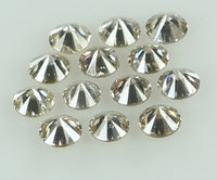 Natural Loose Diamond Round Brown Color SI2 Clarity 13 Pcs 0.38 Ct KR1468