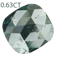 Natural Loose Diamond Cushion Blue Color I3 Clarity 6.00 MM 0.63 Ct KR1658